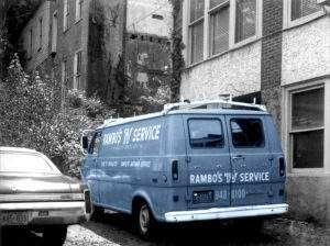 Repair truck from the Rambo family business.